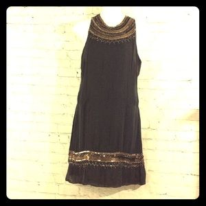 Parke 100% Silk Sequin beads embellished Dress XS